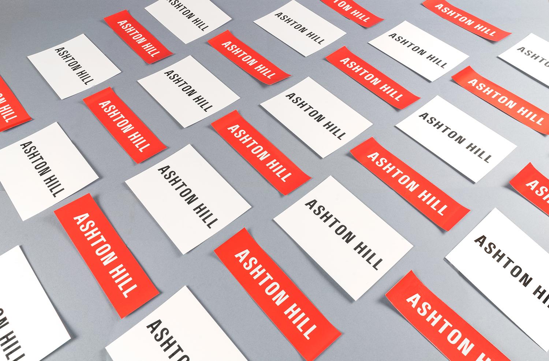 Diseño y creación de material corporativo para una marca de moda: Ashton Hill